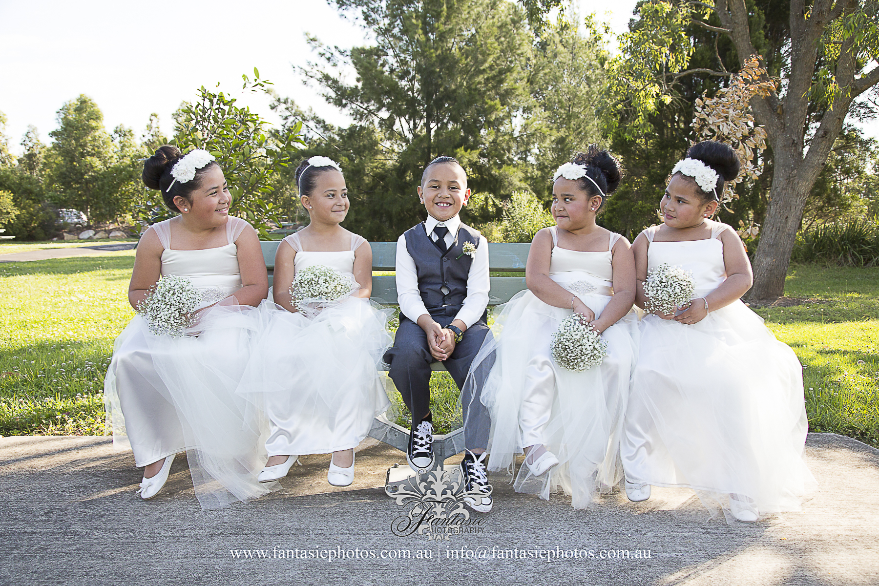 Wedding Photography Page boys and flowers girls photo | Fantasie Photography