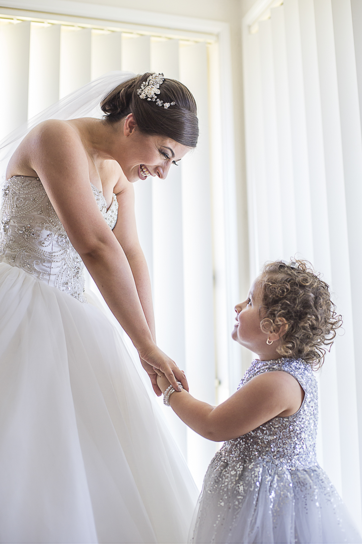 Bride and niece wedding photo | Fantasie Photography