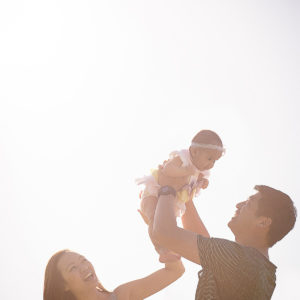 Sunset Family Photo | Fantasie Photography