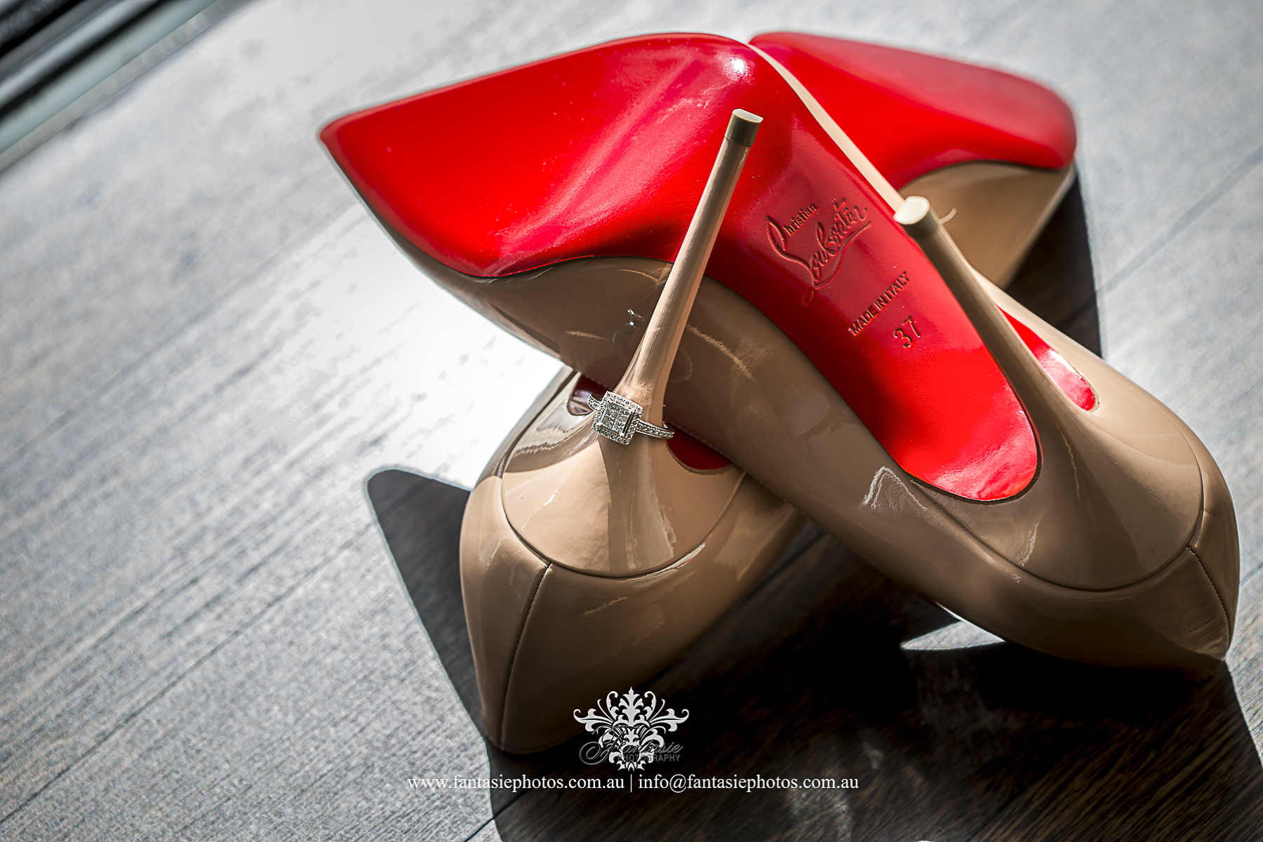 Superior luxury bridal style best wedding high heel christian louboutin photo | Fantasie Photography