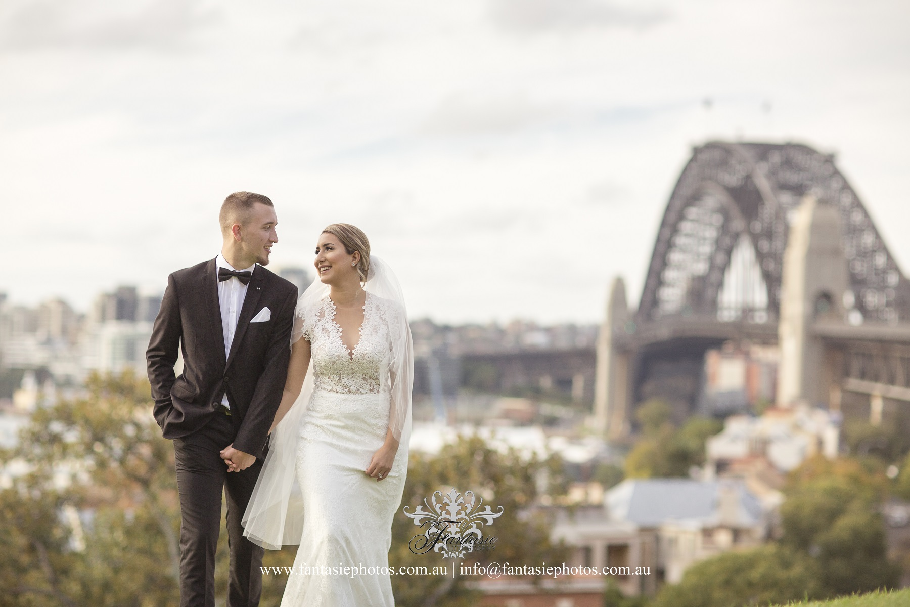 Gorgeous Bride & Handsome Groom Location Shoot at Observatory Hills