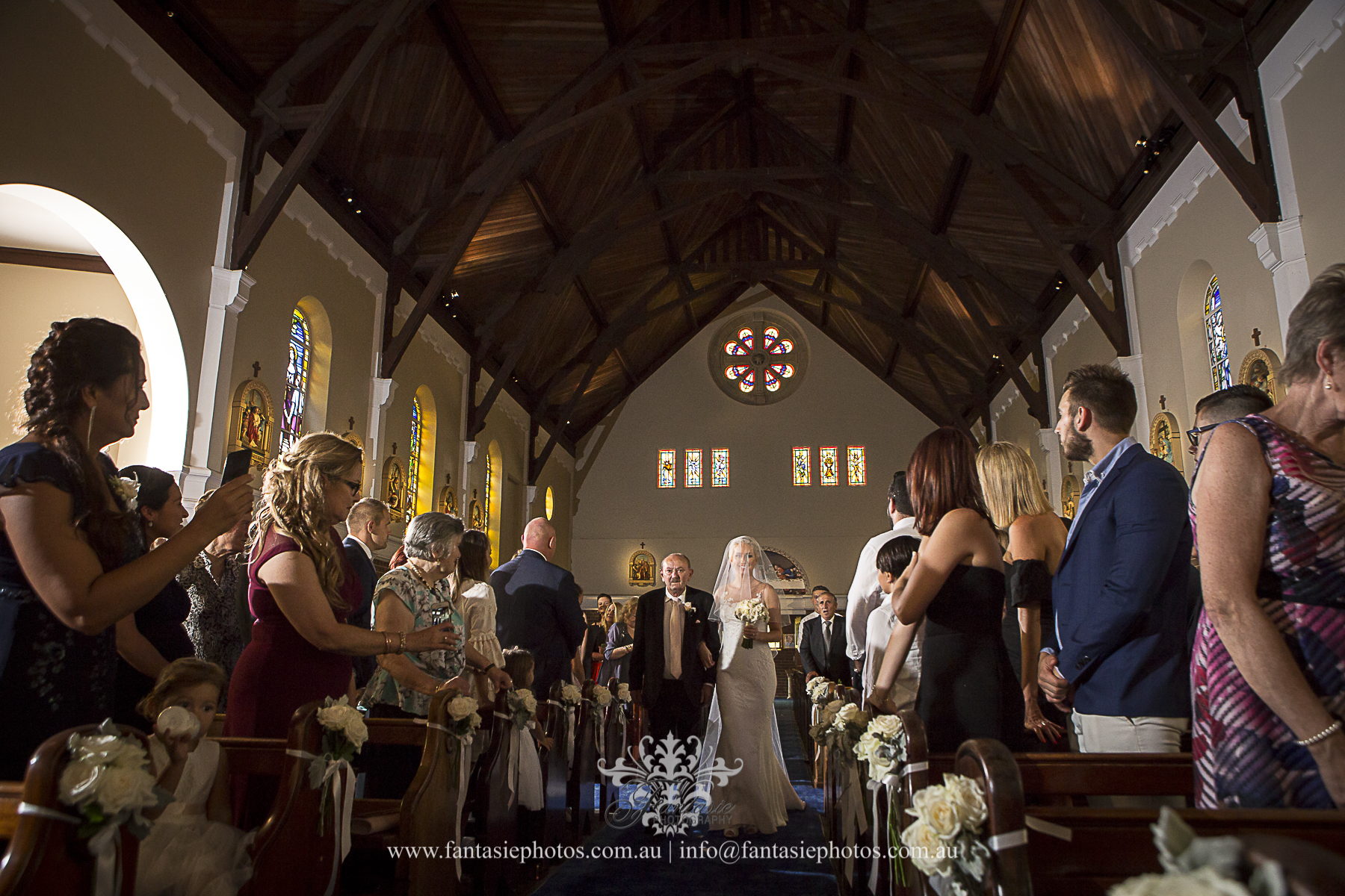 Wedding Photography at Blessed Sacrament Mosman | Fantasie Photography