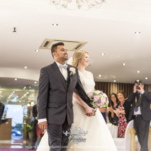 Wedding Groom and Bride entrance at Reception at Brighton Le Sands Grand Roxy with fireworks