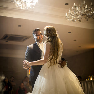 Stunning Bride and Groom First Dance Bridal Waltz at Grand Roxy with Dry Ice