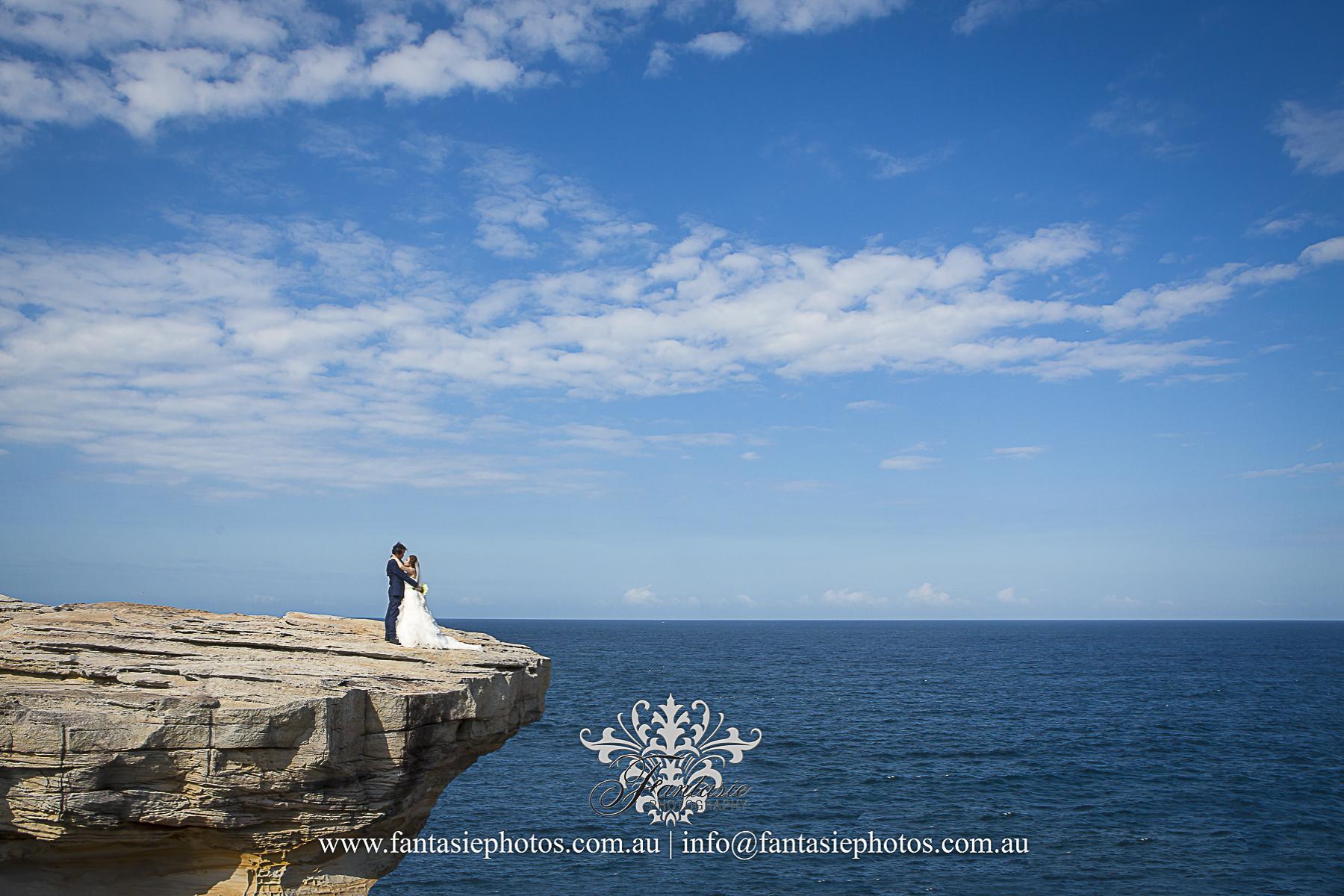 wedding photography jack vanny memorial park Maroubra cliff shoot