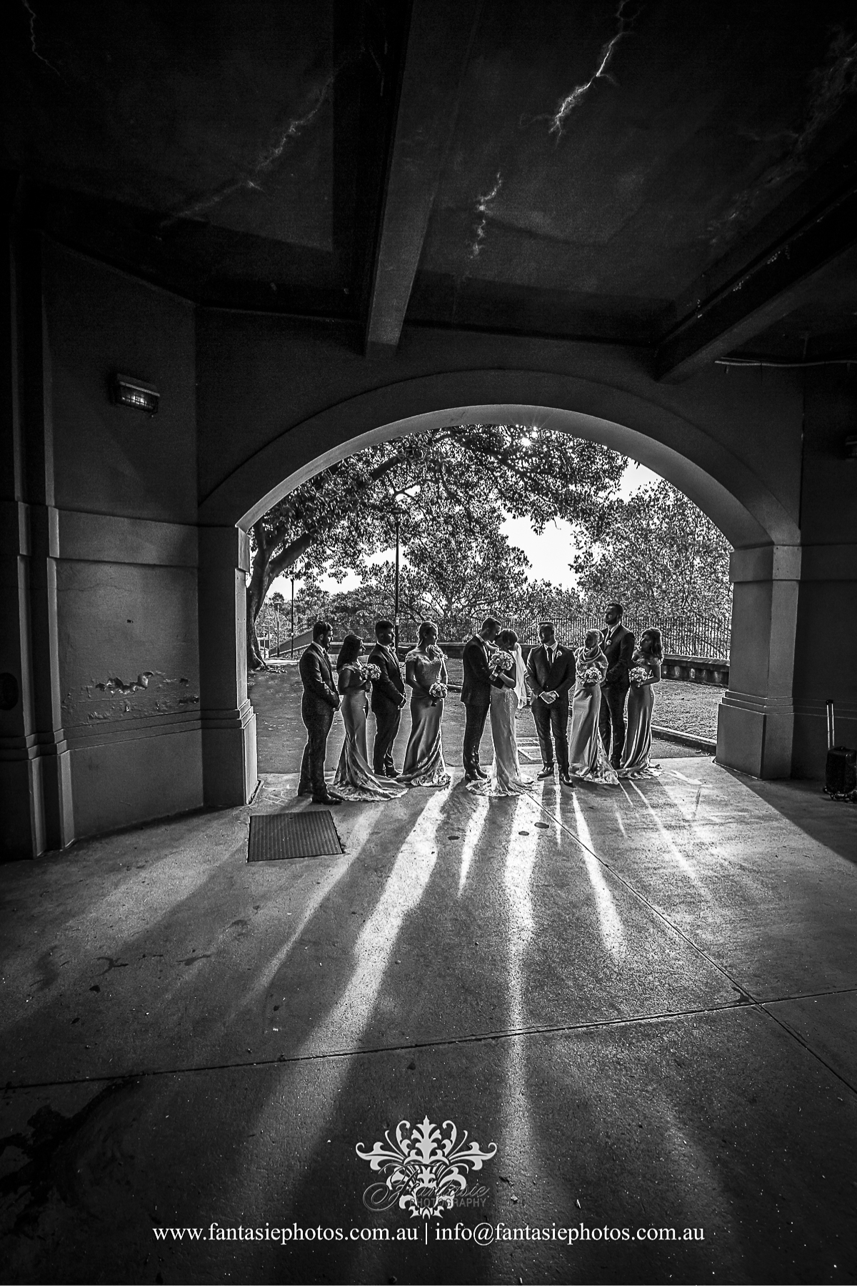 Bridal Party Photo at Observatory Hills | Fantasie Photography