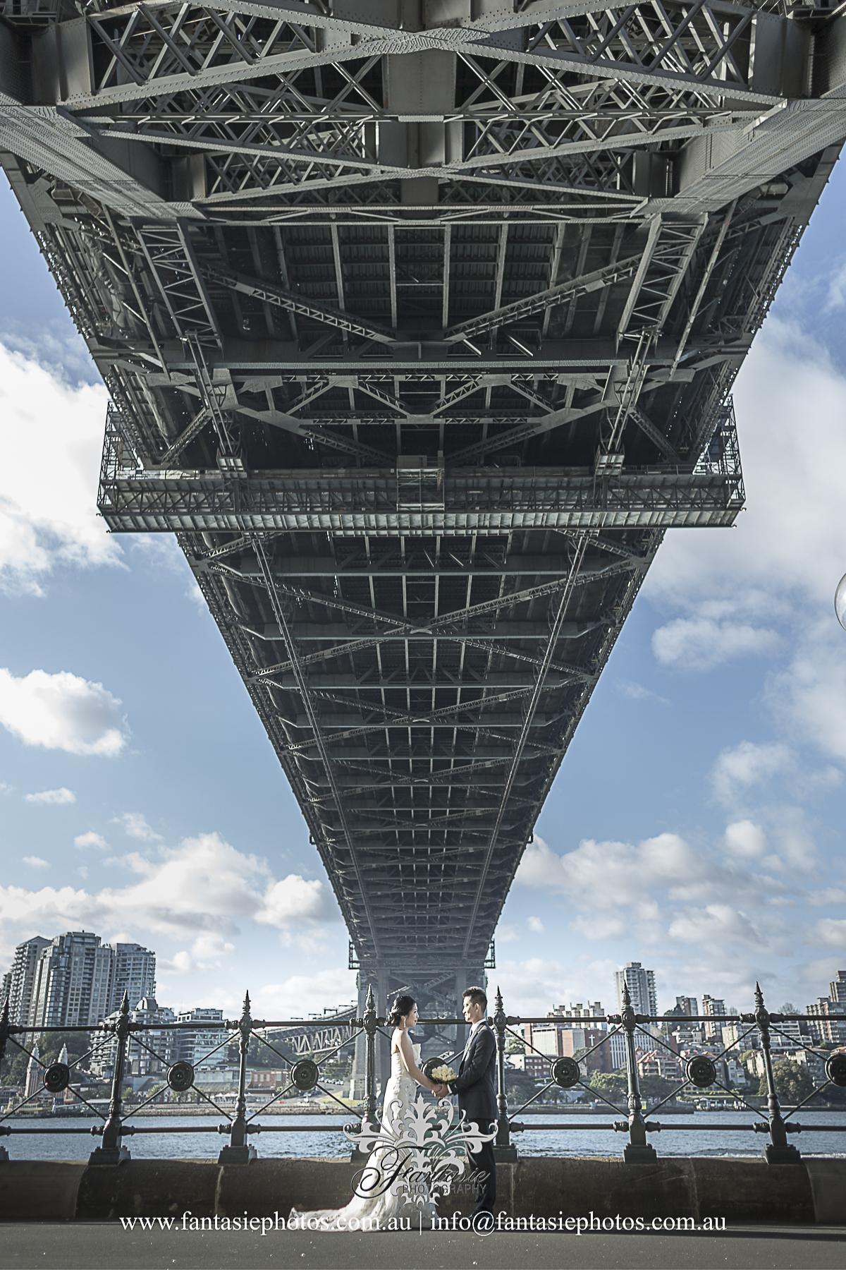 Sydney Harbour Bridge Wedding Photography at Hickson Road Sydney The Rocks | Fantasie Photography