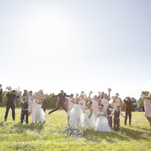 Wedding Photography Bridal Party at Chipping Norton Boatshead | Fantasie Photography