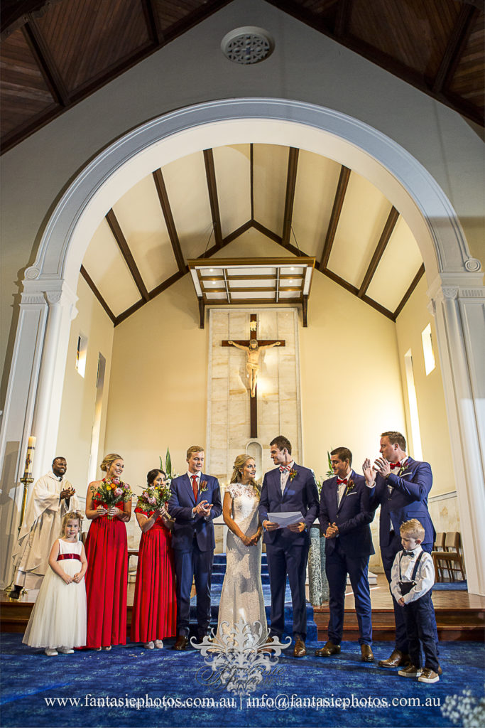 Wedding Photography at Blessed Sacrament Catholic Church Clifton Gardens | Fantasie Photography