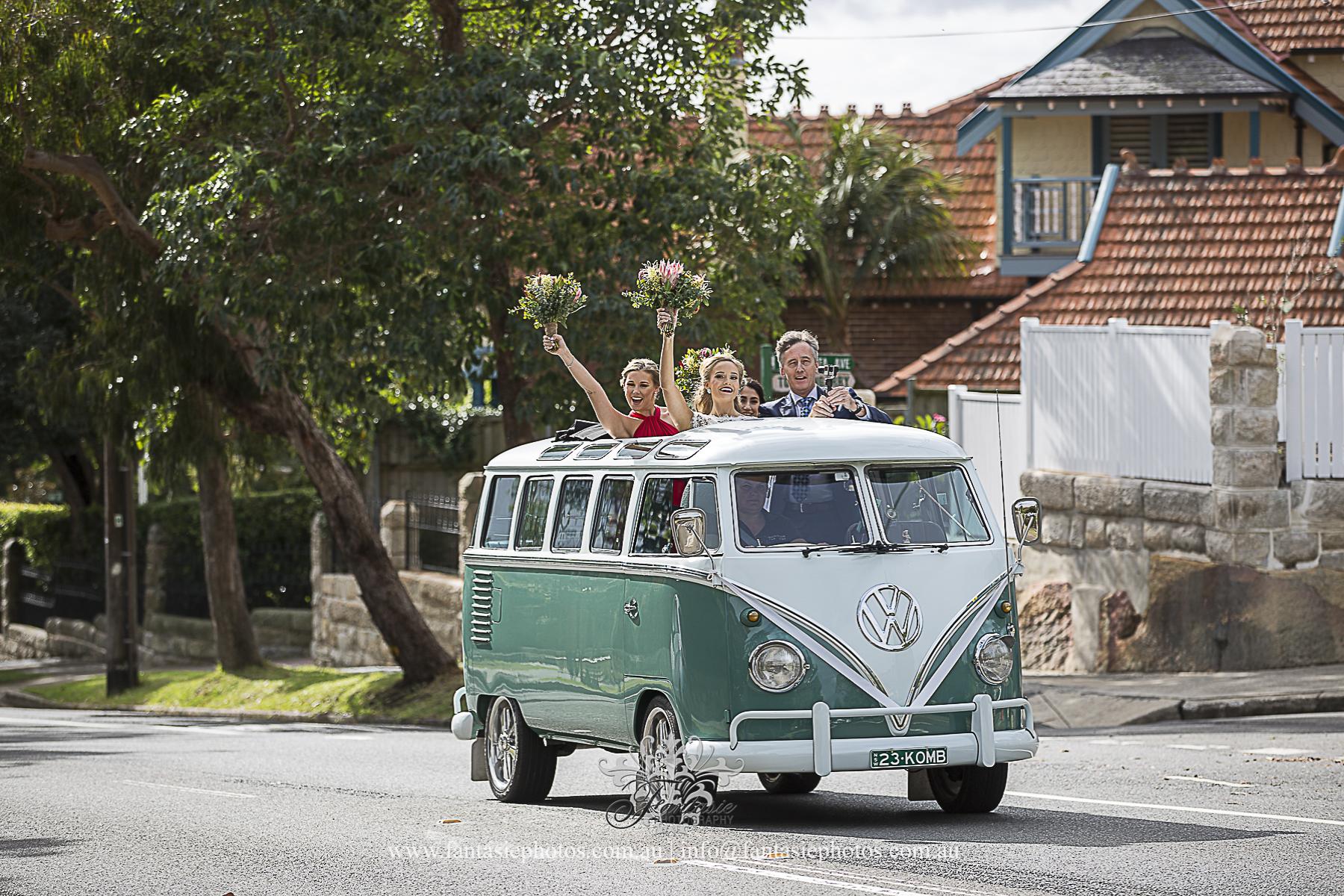 Volkswagen Vintage Classic Kombi Wedding Van Car | Fantasie Photography
